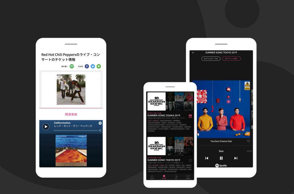 音楽情報メディアで気になったアーティストの曲がSpotifyで無料視聴